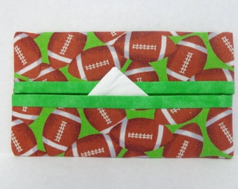 Footballs Tissue Cozy/Gift Card Holder/Party Favor/Wedding Favor
