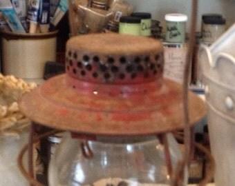 Vintage Handlan Red Shabby Lantern - FREE SHIPPING