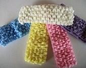 SALE Crochet Headbands, Ready to Ship, Baby Headbands, Spring Pastel Headband, Flower and Hair Bow Headband, Adult  Infant Headband