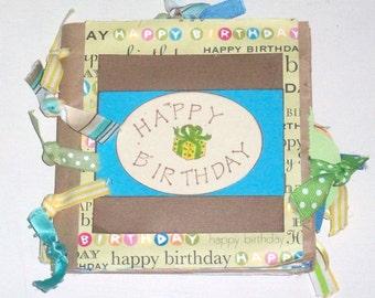 Handmade Lunch Sack Happy Birthday Photo Album