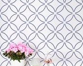Fuji Allover - Large - Wall stencils for cheap room makeover - Stencils for DIY wall decor.