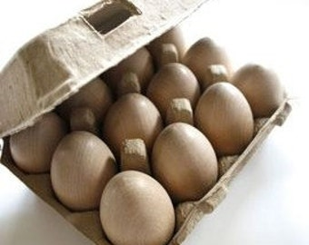 Set of 4 - Vintage Style Egg Carton - Pulp 3x4 Configuration - One Dozen Eggs or Baked Goods