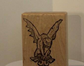 Winged Gargoyle rubber stamp PSX