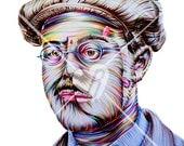 "Custom Portrait of Richard Harrow - Print 14"" X 11"""