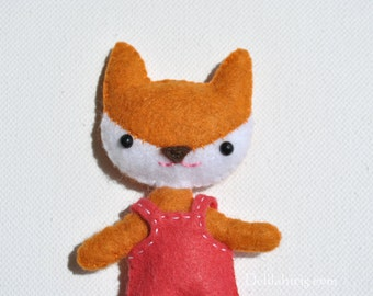 Mini Fox Doll Sewing Pattern * Make Your Own Fox Doll * 4 Inch Felt Doll Pattern * Printbale PDF Pattern