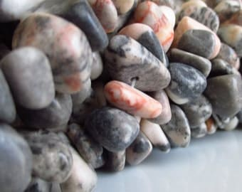 Desert Rose Marble Large Chip Beads 5 inches (13cm)