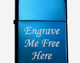 "Custom ""SAPPHIRE"" ZIPPO Lighter w/ Free Engrave"