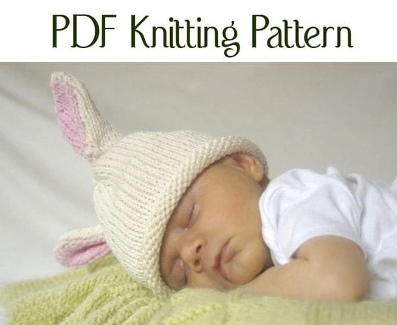Baby Bunny Hat Knitting Pattern : Baby Bunny Hat pattern knit Boston Beanies