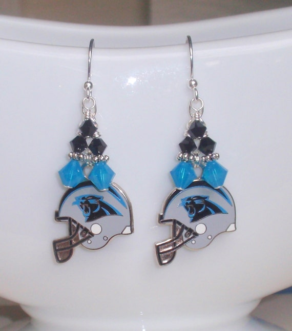 carolina panther jewelry carolina panther earrings nfl panthers turquoise by 8417