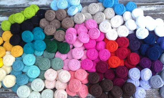 5 fabric rosettes-You pick your colors