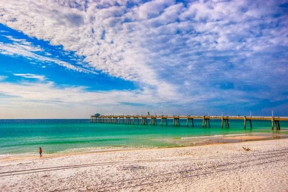 Travel landscape photography emerald coast pier beach for Destin florida fishing pier