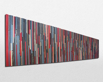 Wood Wall Art - Huge Wood Sculpture - Abstract Painting on Wood - Wood Wall Sculpture