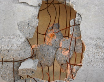 Photography Art Download - Concrete and Rebar