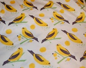 Alexander Henry Yellow Bird Seed Vintage Retro Cotton Fabric 1/2 yard Half Yard OOP Out of Print Hard To Find RARE yardage
