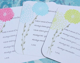 Bridal Shower Advice Cards -  Wedding Shower Advice Tags - Advice Cards for Brides To Be - Marriage Advice Cards - SFAC1