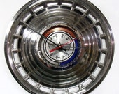 1963 Ford Galaxie Hubcap Clock - Classic Car Wall Clock - Valentines Day Gift For Him