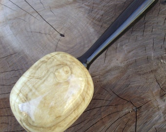 Figured Maple Wood Darning Egg - Eco-friendly Hand Turned Wooden Darning Egg with Ebony Wood Handle - Wood Darning Egg