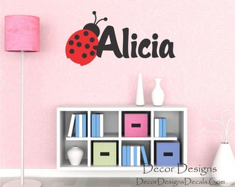 SALE. 1 Day Only. 50% OFF. Use Coupon Code CYBER50.Ladybug Custom Name Vinyl Wall Decal Sticker