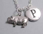 Potbelly Pig Charm Silver Plated Supplies