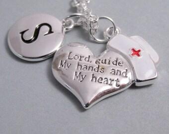 Nurse Cap and Heart Charm Silver Plated Charm Supplies