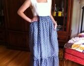 Beautiful flower child hippie maxi vintage dress