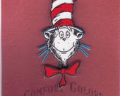 Cat in the Hat Pin made from Dr. Suess Fabric