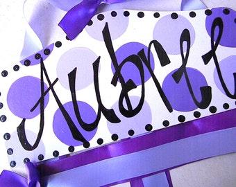 Bow Holder - Purple Plaque Hair Bow Holder