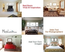 5 Photoshop Templates of Real Rooms for Upselling your Photos - Real Room Wall Art Inspiration