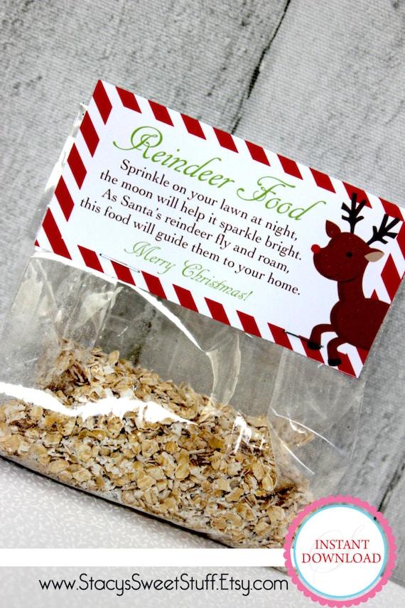 Diy printable bag topper reindeer food by stacyssweetstuff