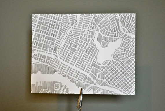 oakland / san francisco / portland / austin city notecards