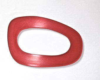 Red Curved Geometric Acrylic Bangle, red bangle, handmade acrylic bangle, perspex bangle, geometric bangle, red acrylic bangle,