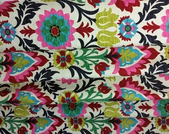 Pair ( 2 panels) designer drapes Waverly Santa Maria DESERT FLOWER