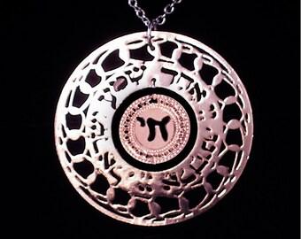 Hebrew chai jewelry, rose Gold necklace, Shma Israel, Jewish jewelry, Judaica jewelry, Life in Hebrew, Spiritual jewelry