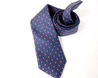 Vintage 1970s Egon von Furstenberg blue necktie