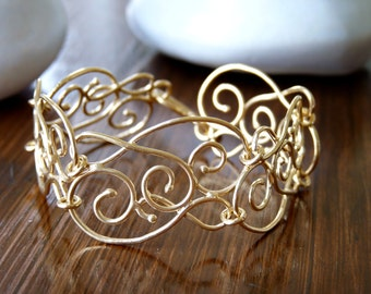 Gold Bracelet - Filigree Bracelets - Gold Plated 18K