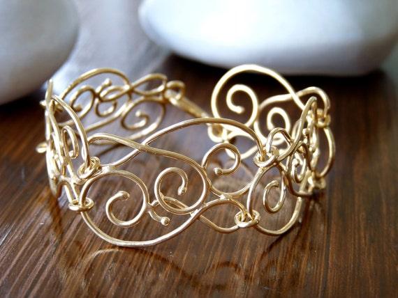 Gold Bracelet - Filigree Bracelets - Gold Plated 18K