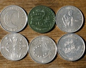 6 Vintage 1960s-70s MARDI GRAS Club Coins Tokens Doubloons FREE Shipping