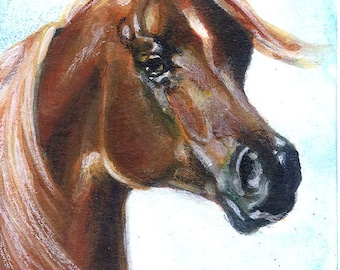 Horse ACEO Made to Order - Miniature Equine Art - Equestrian Collectible WHOA
