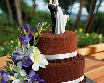 Personalized Custom Toppers True Romance Bride and Groom Wedding Cake Toppers -Cute First Dance Fun Romantic Mr and Mrs Couple Figurines