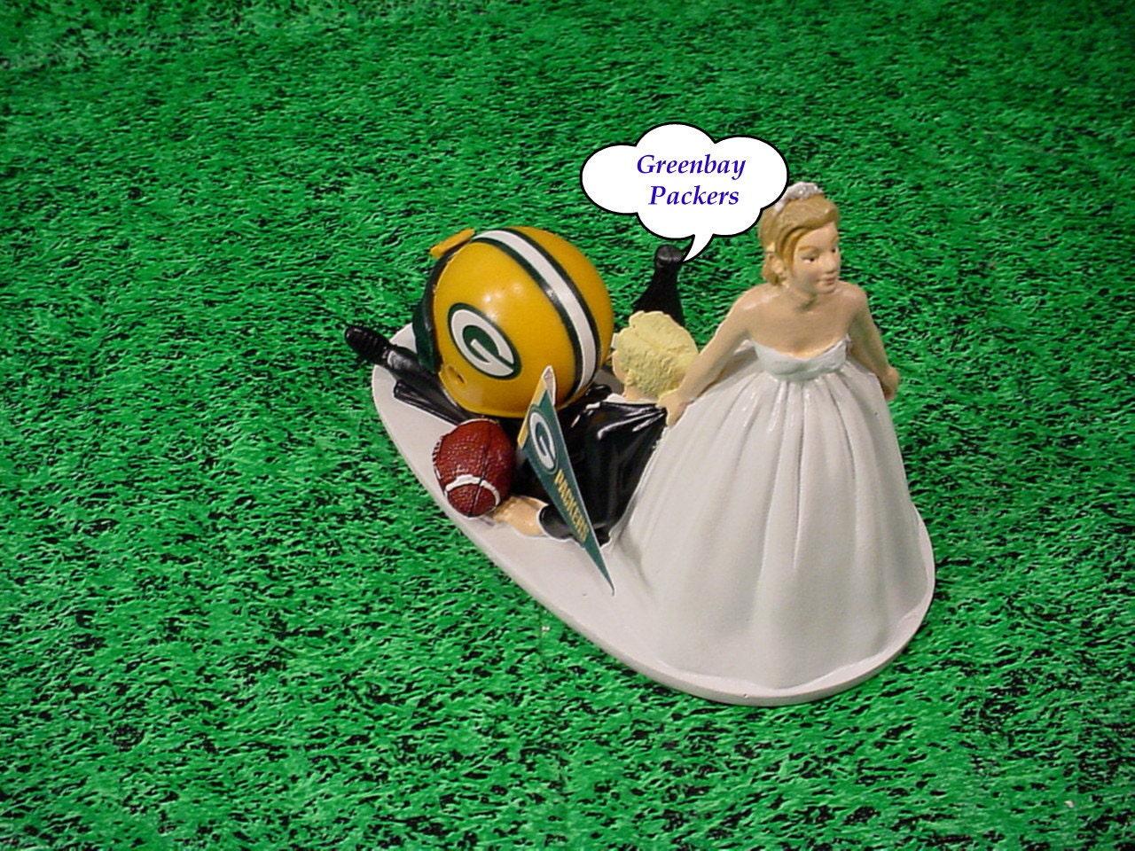 Green bay packers football fan sports bride dragging blonde for Green bay packers wedding dress