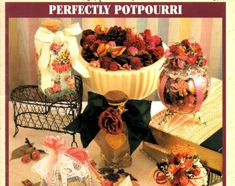 Perfectly Potpourri Scented Dried Organic Natural Materials Learn How to Make Mix Scents Odors Floral Flower Fruit Craft Leaflet 3877