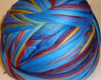 Merino Wool Roving, Wool Roving, Felting Wool, Spinning Wool, spinning and felting wool from Ashland Bay Trading - Multi-Color Baltic - 8oz