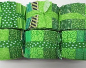 Lime Green Jelly Roll Fabric Strips - Quilt Strips Jelly Roll - SEW FUN QUILTS Time Saver Quilt Kit