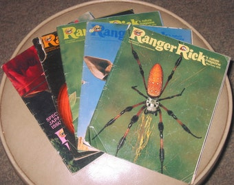 1976 Ranger Rick magazines, 5 issues May through November, Japan issue