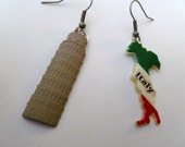 Earrings Mix and Match Collection Italy and Leaning Tower of Pisa Dangles