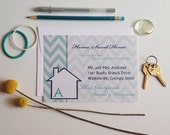 Moving Announcement | Home Sweet New Home Announcement | Chevron Change of Address Card | New House Card | We've Moved Announcement