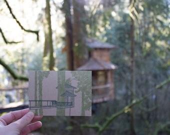 Treehouse Single Note Card - Burl
