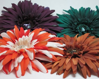Custom flower hair clips