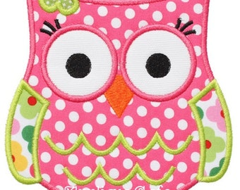 514 Owl 5 Machine Embroidery Applique Design