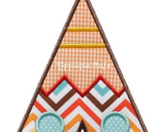668 Teepee Machine Embroidery Applique Design